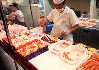 北海道海鮮丼の実演販売