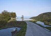 3つの棚田と日本海の景色