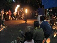 竹灯りの集いファイアーダンス